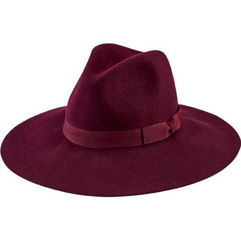 Women's San Diego Hat Company Floppy Fedora with Bow WFH8049 Burgandy