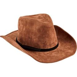Children's San Diego Hat Company Faux Suede Cowboy with Trim WFK4189 Brown