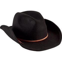 Children's San Diego Hat Company Faux Wool Cowboy Hat with Trim CTK3549 Black