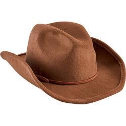 Children's San Diego Hat Company Faux Wool Cowboy Hat with Trim CTK3549 Brown