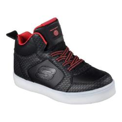 Children's Skechers S Lights Energy Lights Tarvos High Top Black/Red - Thumbnail 0
