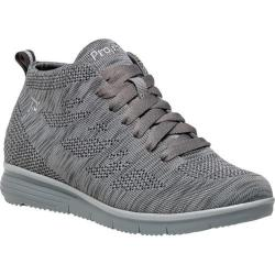 Women's Propet TravelFit High Top Light Grey Mesh