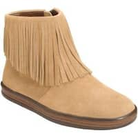 Women's Aerosoles Good Fun Fringe Bootie Light Tan Suede