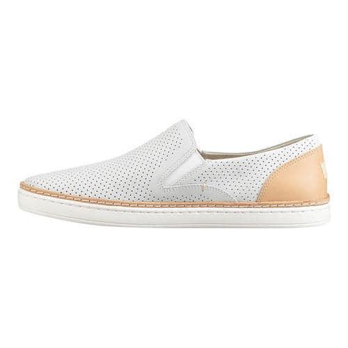 45539c9def6 Women's UGG Adley Perf Slip-On White Leather   Overstock.com Shopping - The  Best Deals on Slip-ons
