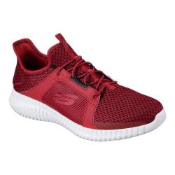 Men's Skechers Elite Flex Bungee Lace Shoe Red/Black