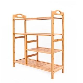 4 Level Bamboo Shoe Shelf Holder Storage Rack Organizer Furniture