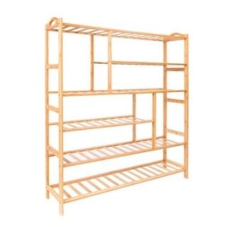 6Tier Bamboo Shoe Shelf Holder Storage Rack Organizer Furniture