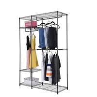 Closet Organizer Shelving Clothes Rack Wire Storage Shelf Hanger Home