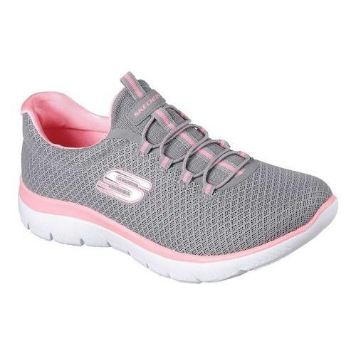Skechers Summits Gray/Pink Womens Training Shoe Size 7.5M