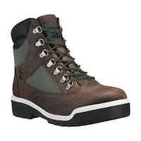 Men's Timberland Field Boot 6in Fabric and Leather Waterproof Boot Light Grey Nubuck