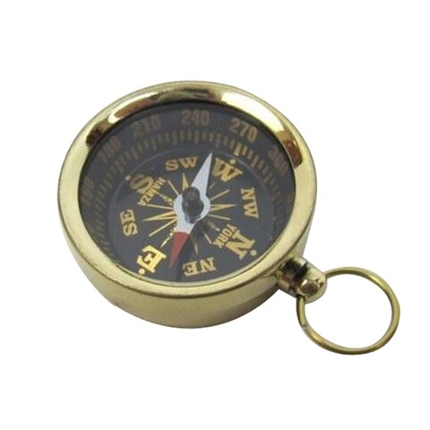 Pocket Compass, Brass