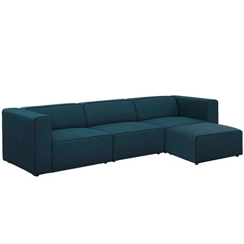 Mingle 4 Piece Upholstered Fabric Sectional Sofa Set