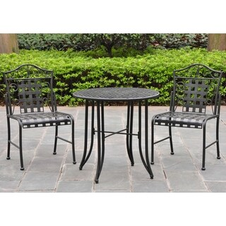 International Caravan Mandalay 3-Piece Iron Patio Bistro Set
