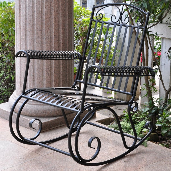 caravan tropico iron porch rocker