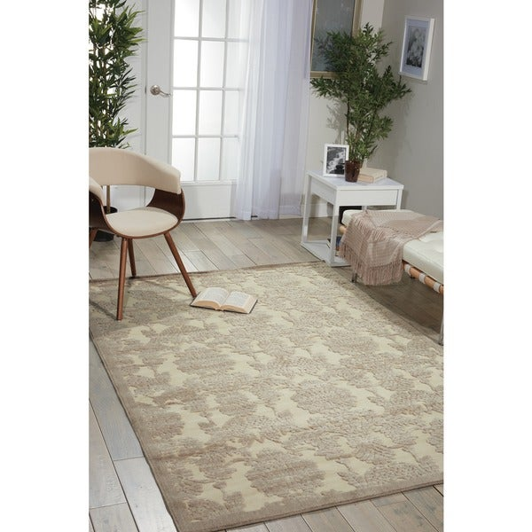 Nourison Graphic Illusions Ivory Latte Rug - 7'9 x 10'10