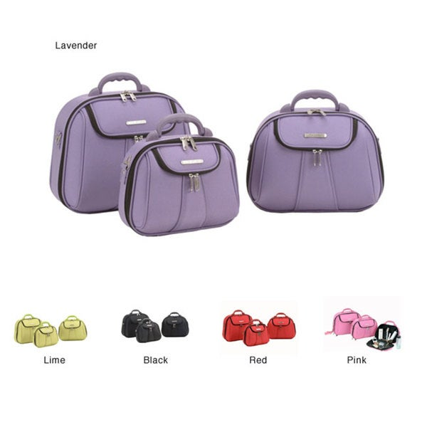 Luca Vergani Molded 3-piece Cosmetic Case Set