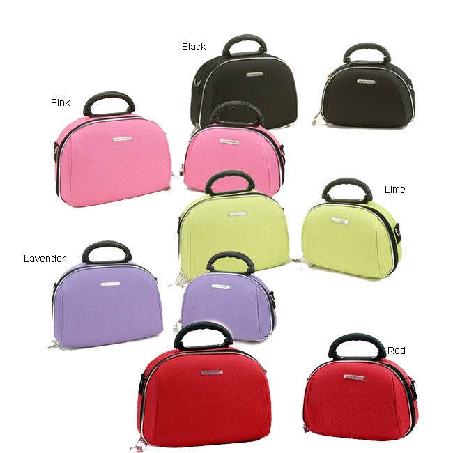Luca Vergani Two-piece Lined Multicompartment Molded Cosmetic Case Set
