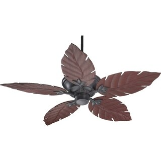 Monaco ABS 52-inch Indoor/Patio Leaf-blade Ceiling Fan