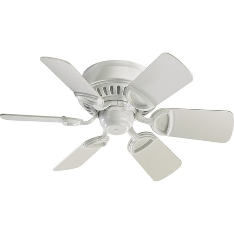"Medallion 30"" Traditional 6 Blade Ceiling Fan - Studio White"