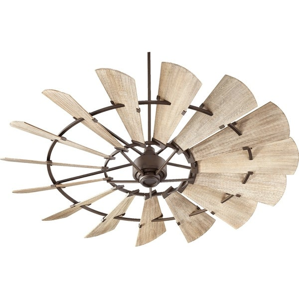 Windmill 72 Inch Transitional Ceiling Fan With Remote Wall