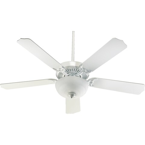 "Capri 3 52"" Traditional Ceiling Fan with Bowl Light Kit."