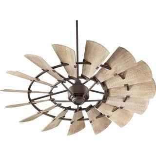 Windmill Transitional Weathered Oak Wood 60-inch Ceiling Fan