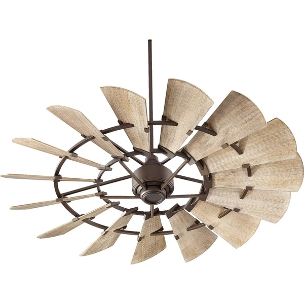 Windmill Transitional Weathered Oak Wood 60 Inch Ceiling Fan