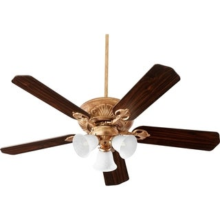 "Chateaux 60"" Uni-Pack Traditional Ceiling Fan with Tri-Light Light Kit."
