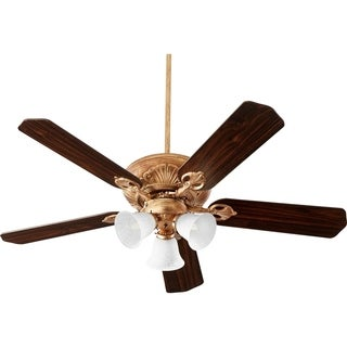 Chateaux 52-inch Uni-Pack Traditional Ceiling Fan With Tri-Light Light Kit