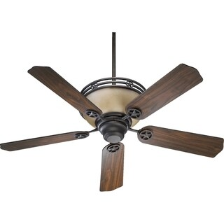 "Lone Star 52"" Transitional Ceiling Fan. - toasted sienna with amber scavo glass"