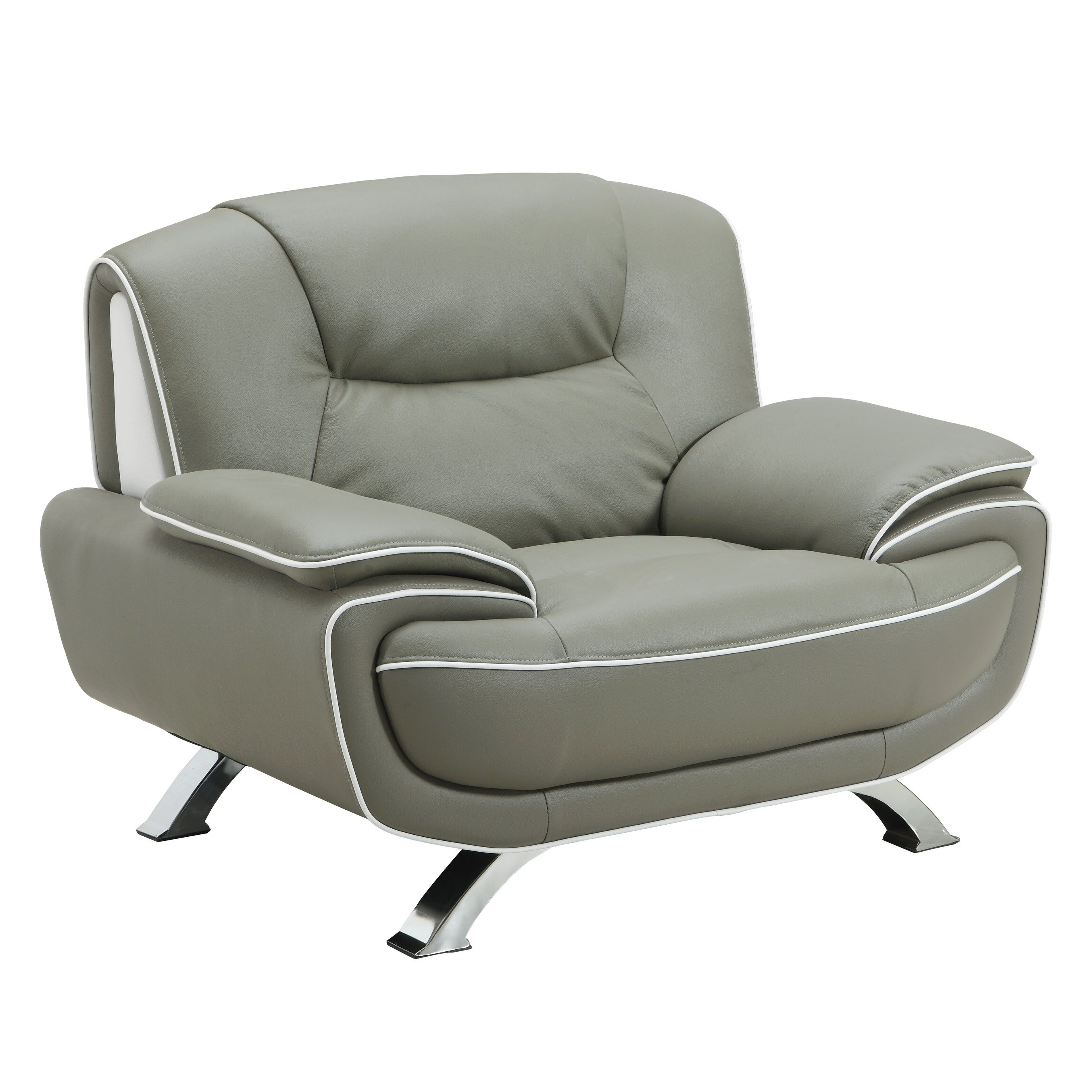 luxury leather chairs. global united industries olympia luxury leather/match upholstered living room chair (option: grey leather chairs