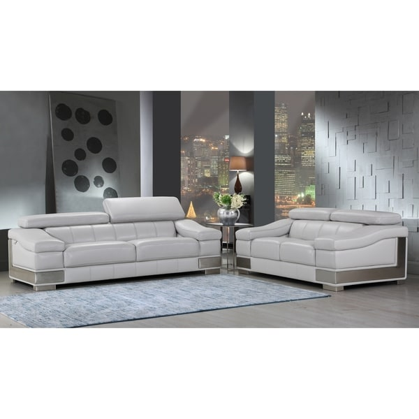 Genevieve Luxury Living Room Sofa Set: Shop DivanItalia Salerno Luxury Italian Leather