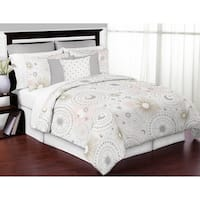 Sweet Jojo Designs Pink, Gold, and Grey Star and Moon Celestial Collection Girl 3-piece Full / Queen-size Comforter Set
