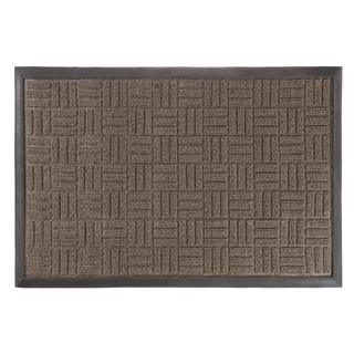 Door Mat Indoor/Outdoor Welcome Mat  Nonslip Rubber Parquet Design By  Windsor Home