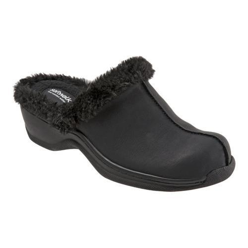 SOFTWALK Women's Softwalk Abigail Clog With Faux Shearling Trim