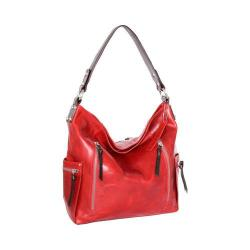 Women's Nino Bossi Justice Leather Shoulder Bag Tomato