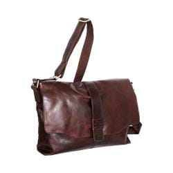 Nino Bossi Lorena Large Leather Messenger Bag Chestnut
