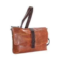 Nino Bossi Lorena Large Leather Messenger Bag Cognac