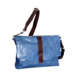 Nino Bossi Lorena Large Leather Messenger Bag Denim