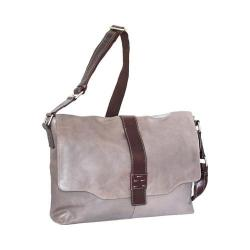 Nino Bossi Lorena Large Leather Messenger Bag Stone