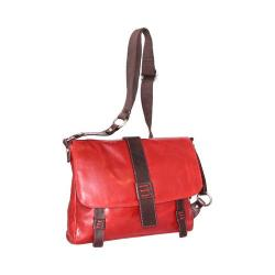 Women's Nino Bossi Mara Medium Leather Messenger Bag Tomato