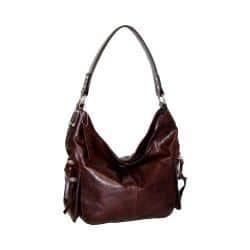 Women's Nino Bossi Marigold Bouquet Leather Hobo Chocolate|https://ak1.ostkcdn.com/images/products/192/325/P23252132.jpg?impolicy=medium