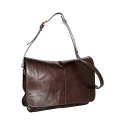 Women's Nino Bossi Peyton Leather Shoulder Bag Chocolate