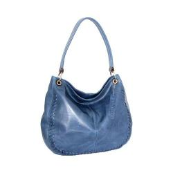 Women's Nino Bossi Tessa Leather Hobo Bag Denim
