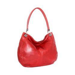 Women's Nino Bossi Tessa Leather Hobo Bag Tomato