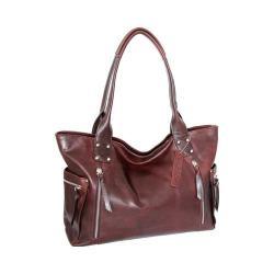 Women's Nino Bossi Tessa Leather Tote Chestnut