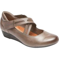 Women's Rockport Cobb Hill Janet Ballet Flat Stormy Grey Leather