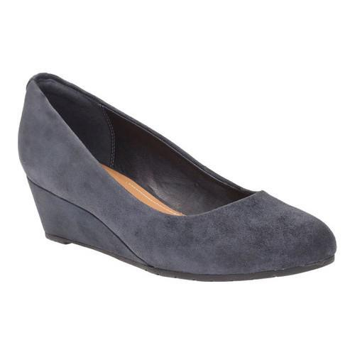 c881fa593 Shop Women s Clarks Vendra Bloom Wedge Navy Suede - Free Shipping Today -  Overstock - 16979899