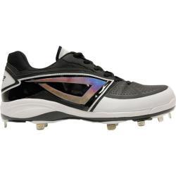 Men's 3N2 Lo-Pro Baseball Cleat Black Patent Leather/Nubuck