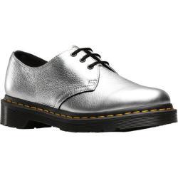 Women's Dr. Martens 1461 3-Eye Shoe Silver Santos Metallic Soft Nappa Leather